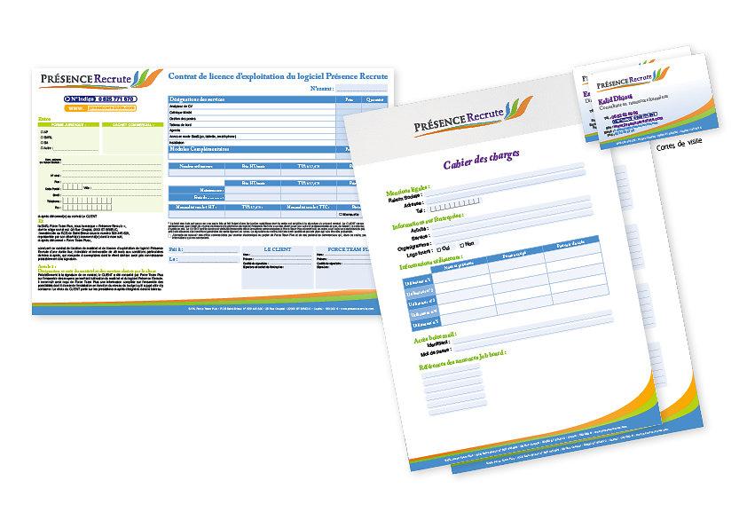 Documents commerciaux Présence Recrute