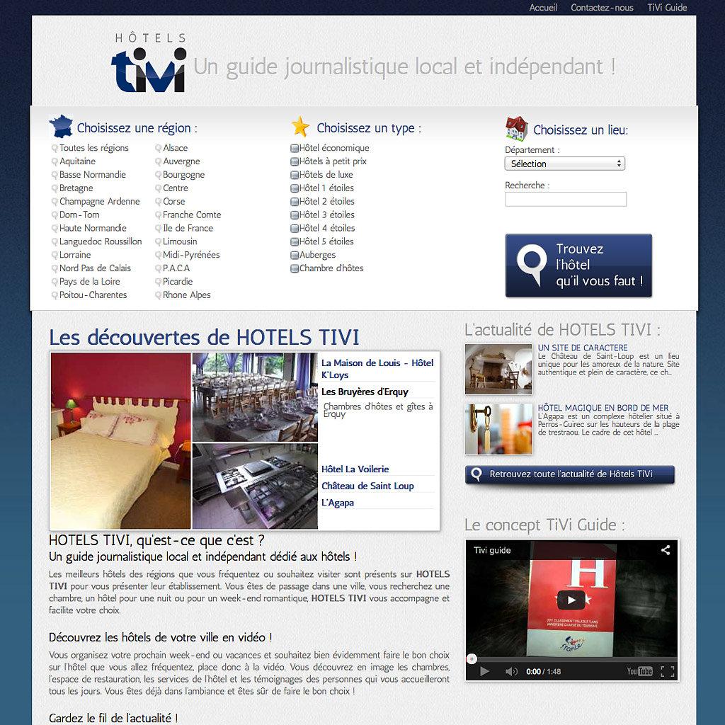 Portail Internet hotels-tivi.com