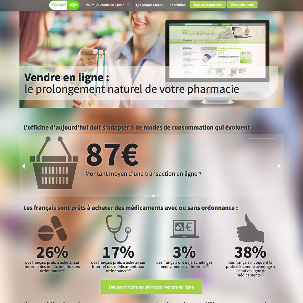 Site corporate pharmacie-on-line.eu
