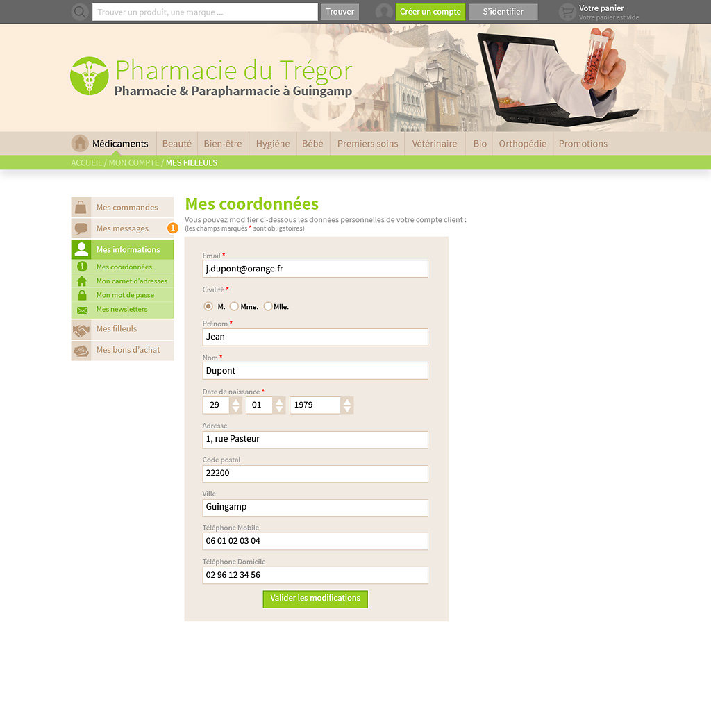 Front office E-commerce