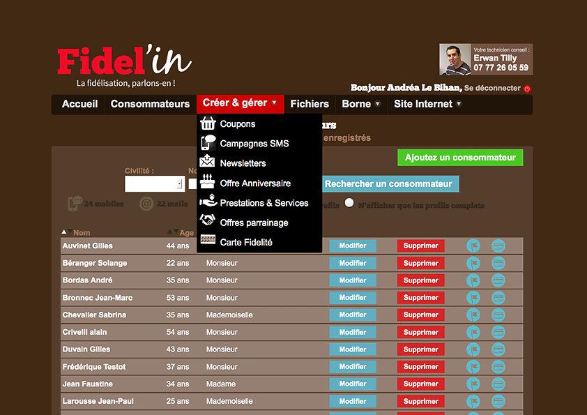 Design d'une application iPad de fidélisation client